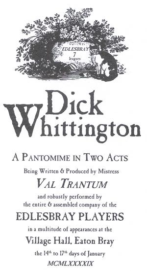 Dick Whittington Programme Cover